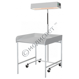 Облучатель для верхнего обогрева младенца ЛВО-02 с пеленальным столиком